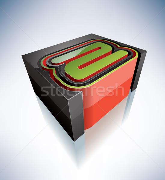 3D brieven alfabet hoofdletter alle Stockfoto © Vectorminator