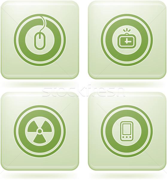 квадратный аннотация веб-иконы общий Сток-фото © Vectorminator