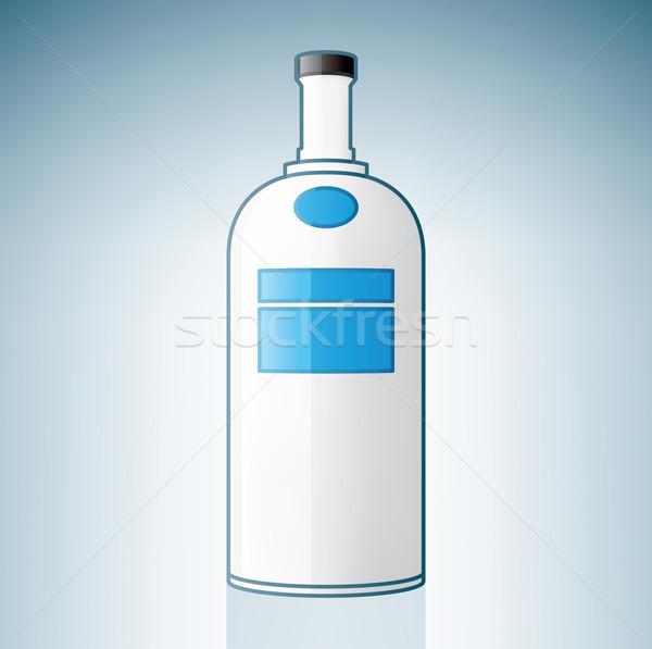 Votka şişe alkol cam mavi Stok fotoğraf © Vectorminator