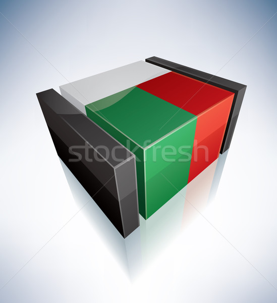3D pavillon Madagascar Afrique république drapeaux Photo stock © Vectorminator