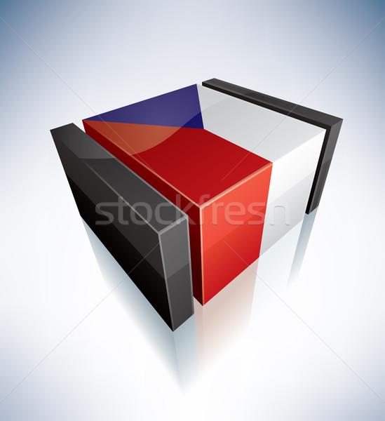 3D flag of Czech Stock photo © Vectorminator