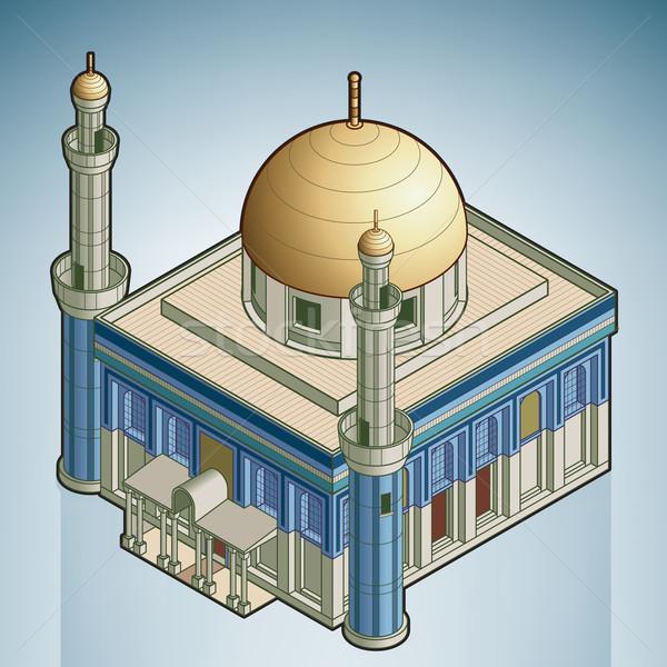 Mosquée rue isométrique 3D Photo stock © Vectorminator