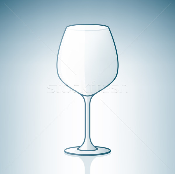 Empty Wine Glass Stock photo © Vectorminator