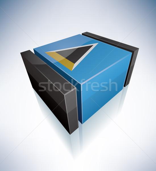 3D flag of Saint Lucia Stock photo © Vectorminator