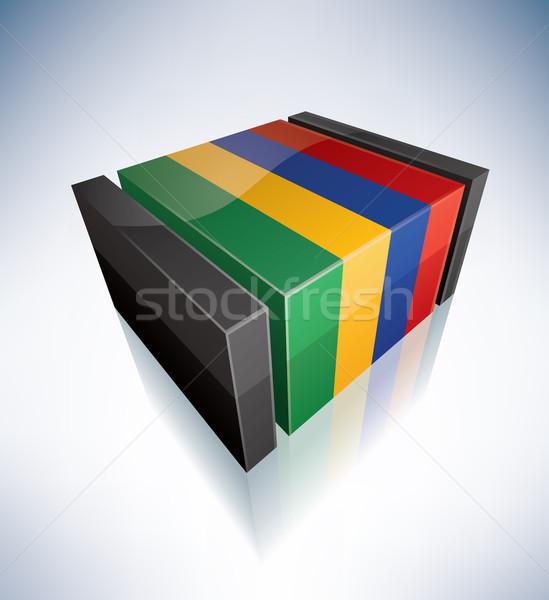 3D флаг Маврикий Африка республика флагами Сток-фото © Vectorminator