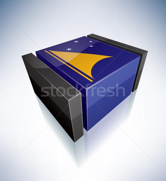 3D bayrak polinezya bayraklar vektör Stok fotoğraf © Vectorminator