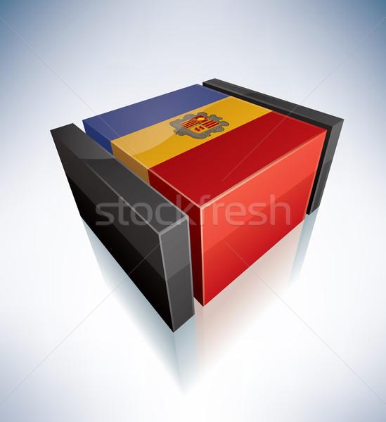 3D vlag Andorra vlaggen Europa Stockfoto © Vectorminator