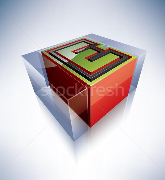3D alfabe şeffaf buz gibi Stok fotoğraf © Vectorminator