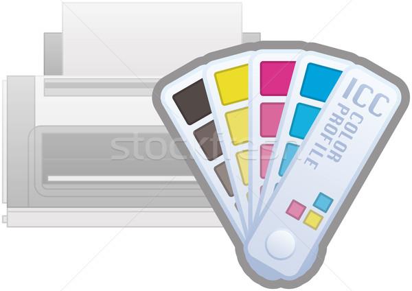 ICC Color Profile Printer Icon Stock photo © Vectorminator
