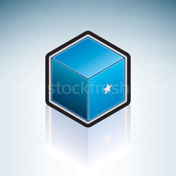 Somali Afryki banderą republika 3D izometryczny Zdjęcia stock © Vectorminator