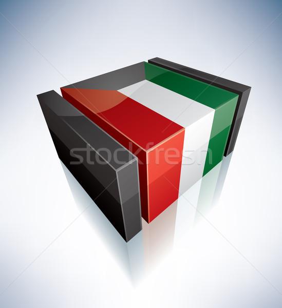 Foto d'archivio: 3D · bandiera · Kuwait · Asia · bandiere