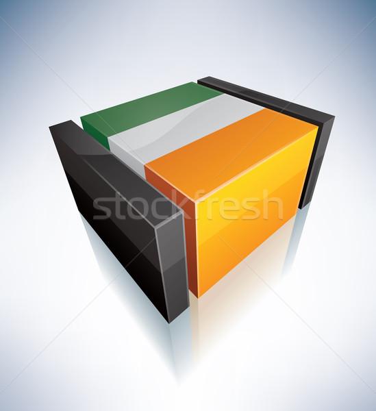 3D флаг Ирландия флагами Европа республика Сток-фото © Vectorminator