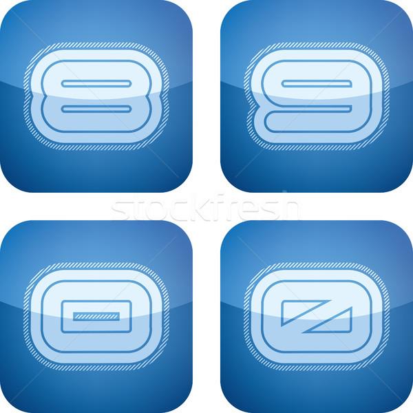 письма современных иконки Сток-фото © Vectorminator