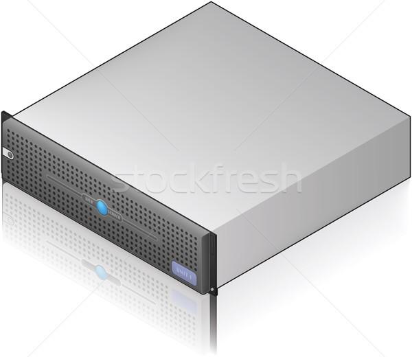 сервер блок низкий профиль изометрический 3D Сток-фото © Vectorminator
