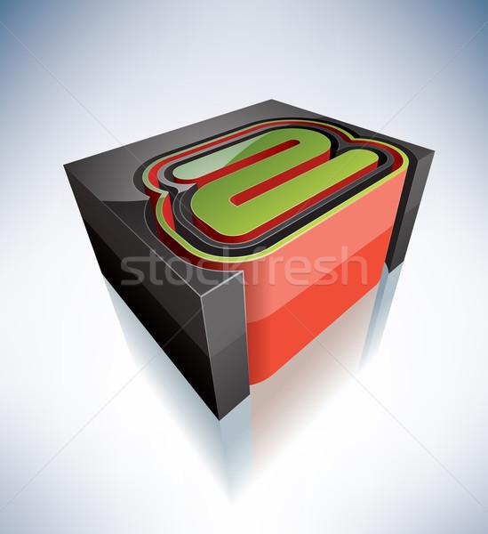 3D dígitos alfabeto dígito Foto stock © Vectorminator