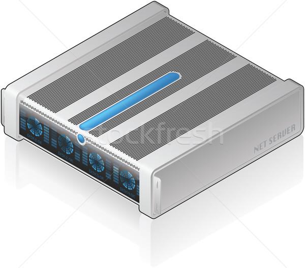 Szerver egység futurisztikus alacsony profil izometrikus Stock fotó © Vectorminator