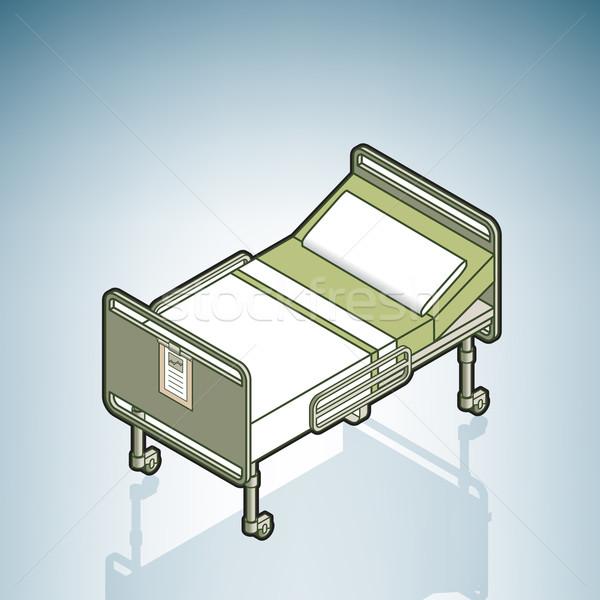 больницу аппаратных изометрический 3D Сток-фото © Vectorminator