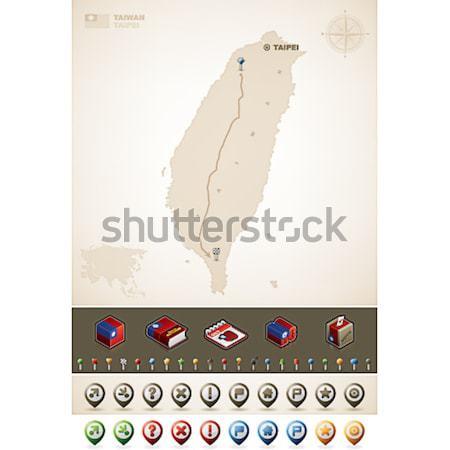 Israël Asie cartes supplémentaire Photo stock © Vectorminator