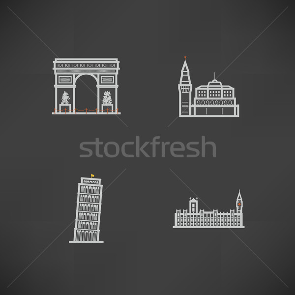 World Landmarks Stock photo © Vectorminator
