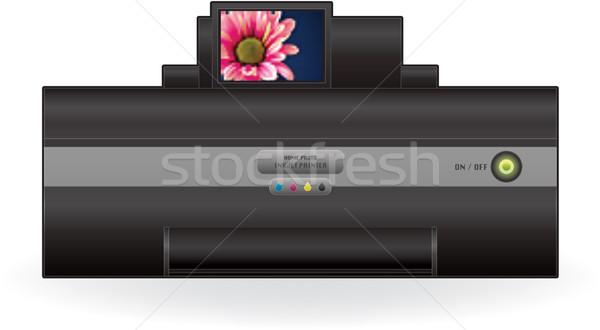 インクジェット プリンタ ホーム 色 写真 フロント ストックフォト © Vectorminator