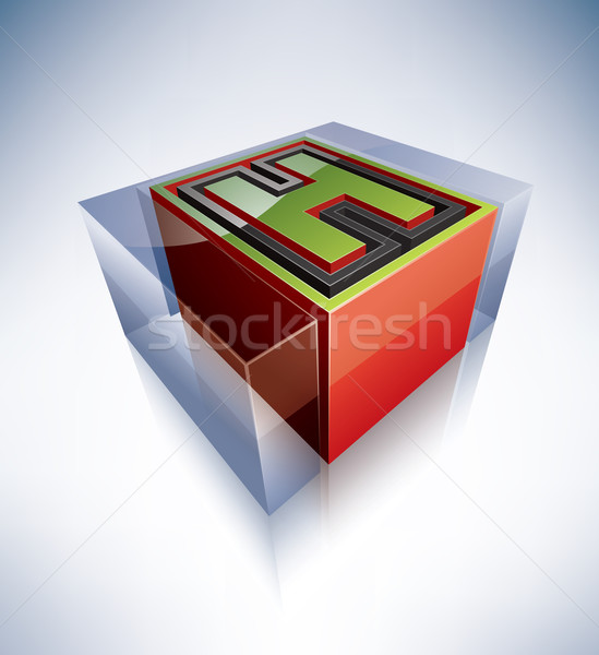 Stock photo: 3D alphabet: Capital letter H