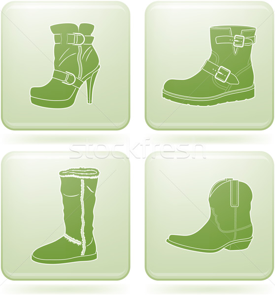 квадратный обувь зима элегантный Сток-фото © Vectorminator