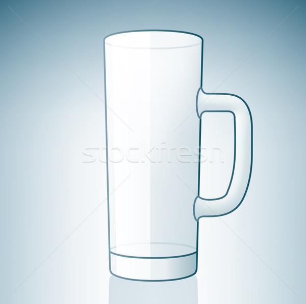 Empty Light Beer Glass Stock photo © Vectorminator