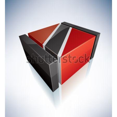 3D フラグ カリビアン 共和国 フラグ ストックフォト © Vectorminator