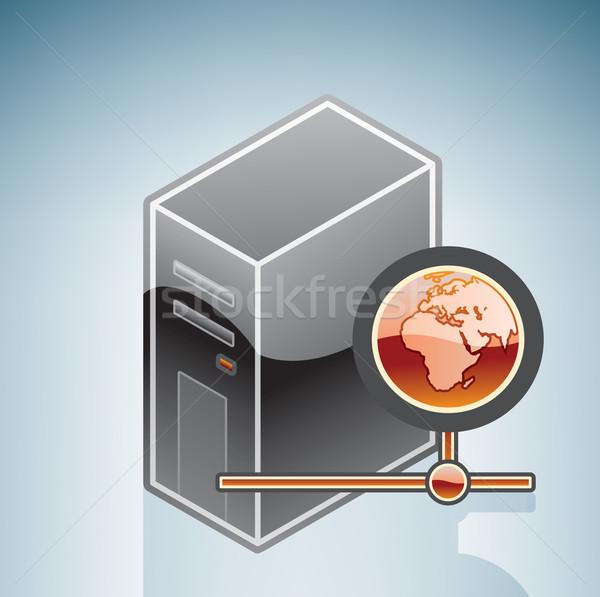 Computer internet accesso isometrica 3D hardware Foto d'archivio © Vectorminator