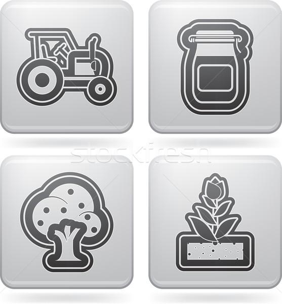 Farm Icons Stock photo © Vectorminator