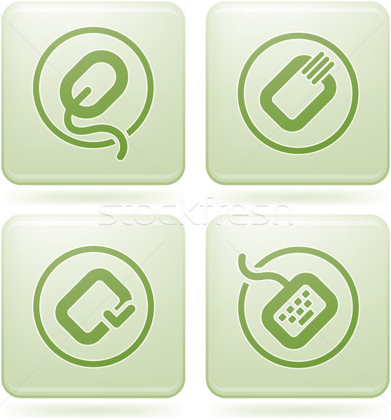 Olivine Square 2D Icons Set: Computer Stuff Stock photo © Vectorminator