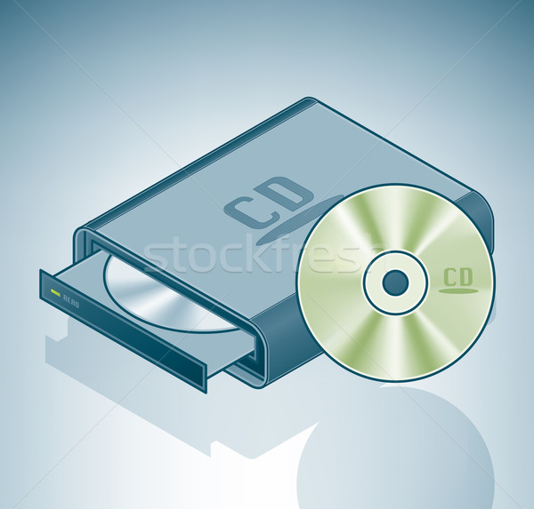 Portable CD-ROM drive Stock photo © Vectorminator