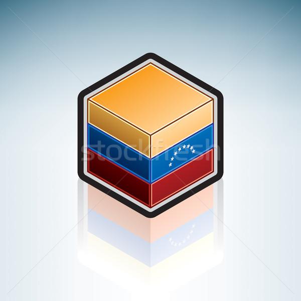 Венесуэла Южной Америке флаг республика 3D изометрический Сток-фото © Vectorminator