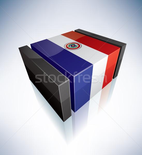 3D banderą Paragwaj ameryka południowa republika flagi Zdjęcia stock © Vectorminator