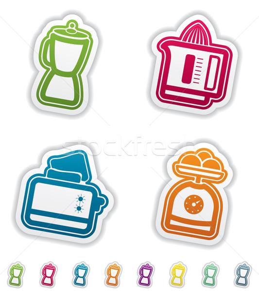 Mutfak aletleri ev nesneler doğru ekmek kızartma makinesi Stok fotoğraf © Vectorminator