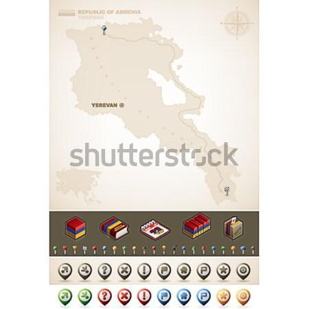 Repubblica Perù sud america mappe Foto d'archivio © Vectorminator