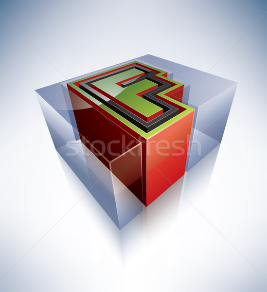 3D alphabet: Capital letter F Stock photo © Vectorminator