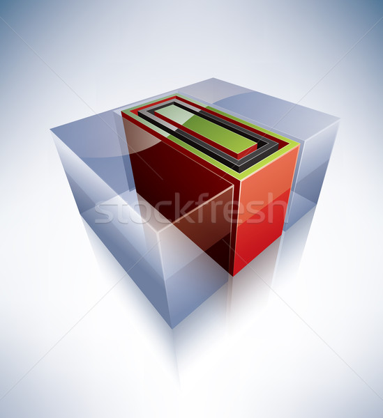 3D ábécé nagybetű átlátszó jégkocka ahogy Stock fotó © Vectorminator