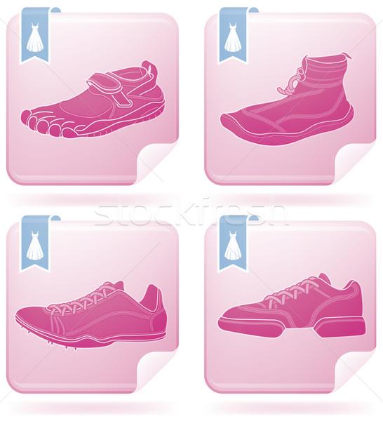 Sportu buty sportowe tutaj Zdjęcia stock © Vectorminator