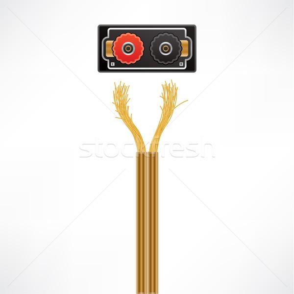 Cable oradores cables plug enchufe Foto stock © Vectorminator