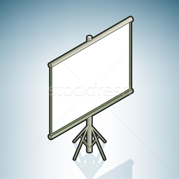 Proyector Screen moderna muebles 3D Foto stock © Vectorminator