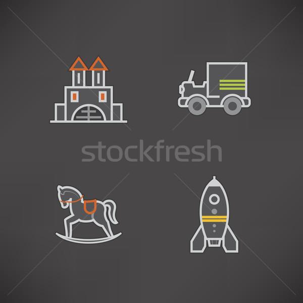 Enfants jouets sûr ici haut Photo stock © Vectorminator