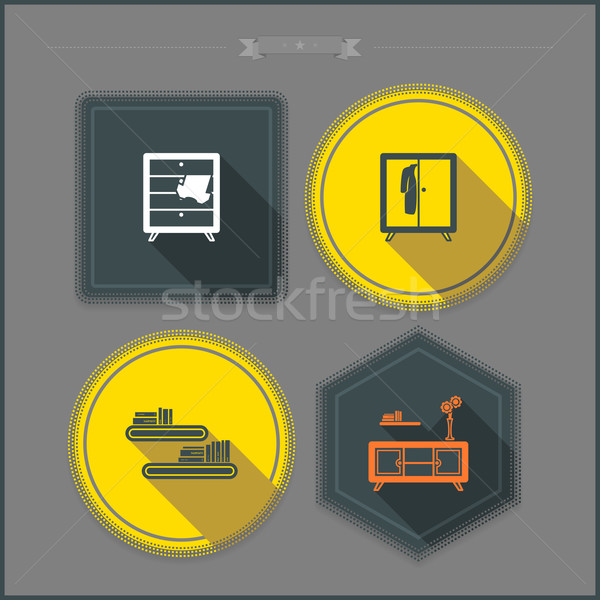House related objects Stock photo © Vectorminator