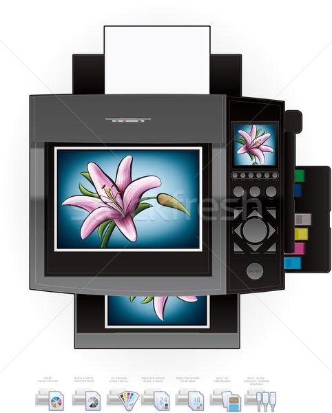 служба струйные цвета фото Top мнение Сток-фото © Vectorminator