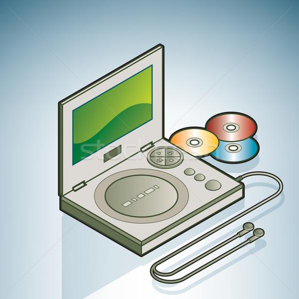 Stock photo: Portable DVD player