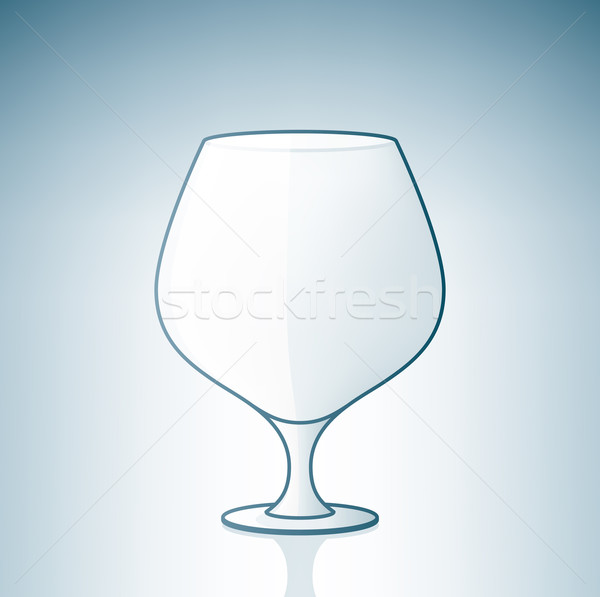 Vide alcool verre boire bouton Photo stock © Vectorminator