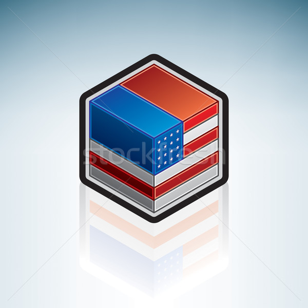 United States of America { North America } Stock photo © Vectorminator