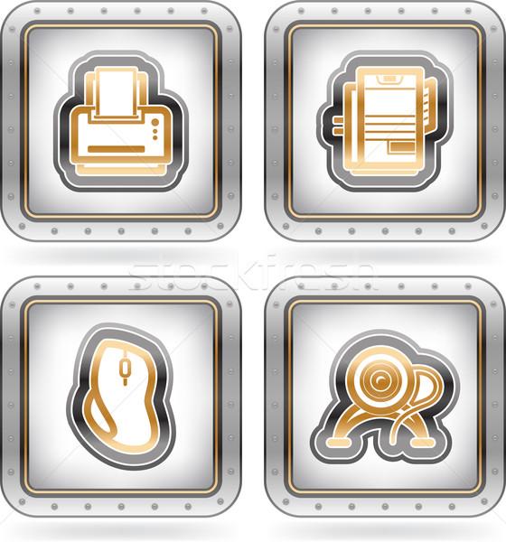 Computador aqui direito impressora Foto stock © Vectorminator