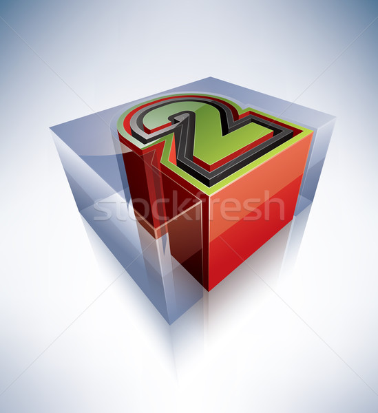3D alphabet: 2 Stock photo © Vectorminator