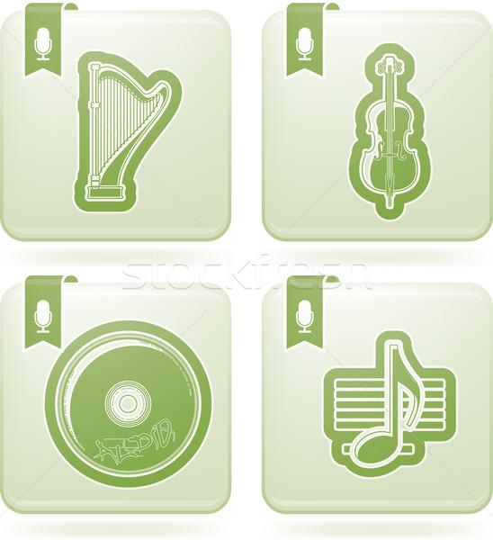 Zene ikonok itt helyes felső fenék Stock fotó © Vectorminator
